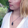 Moss Necklace On Snake Chain