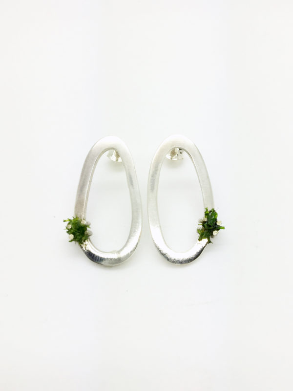 Moss Earrings Large Stud