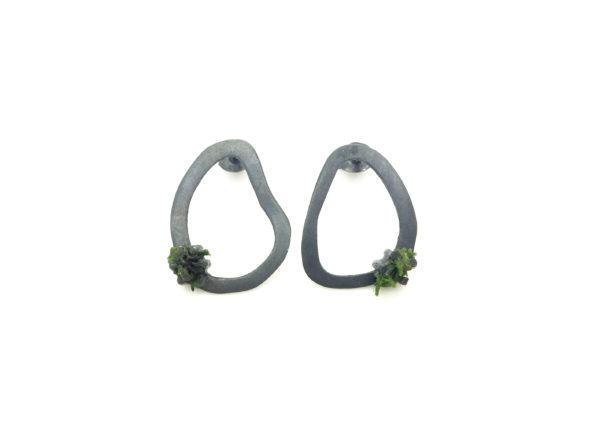 Moss Earrings Medium Stud